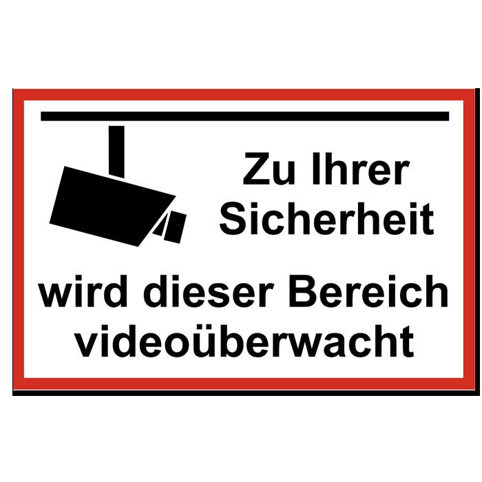 aufkleber video berwachung abschreckbild sicherheit sticker video ebay. Black Bedroom Furniture Sets. Home Design Ideas